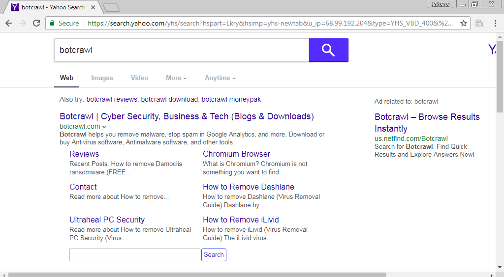 How to remove the Video Browse Default Search extension