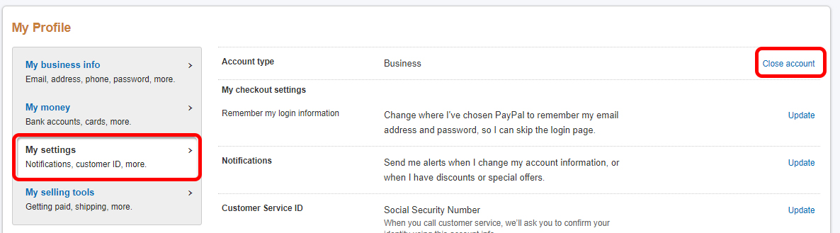 How to close your PayPal account (Instuctions) - Botcrawl