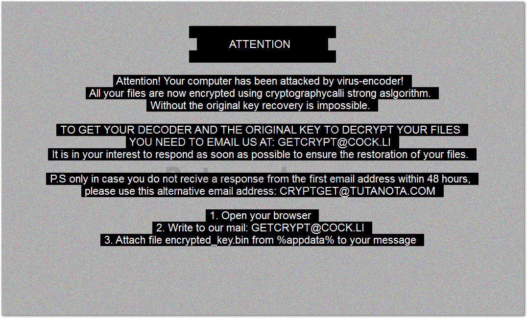 Remove and Decrypt GetCrypt Ransomware (Virus Removal Tutorial)