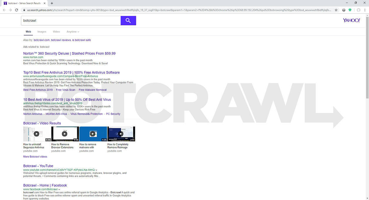 How To Remove Internet Start Net Removal Guide Botcrawl
